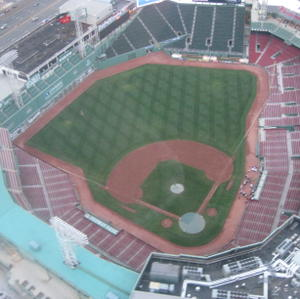 Fenway from a helicopter