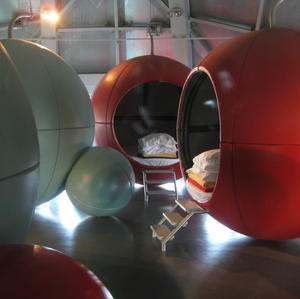 Sleepover room in the Atomium
