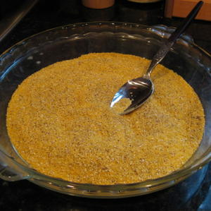 Cornmeal breading for tofu