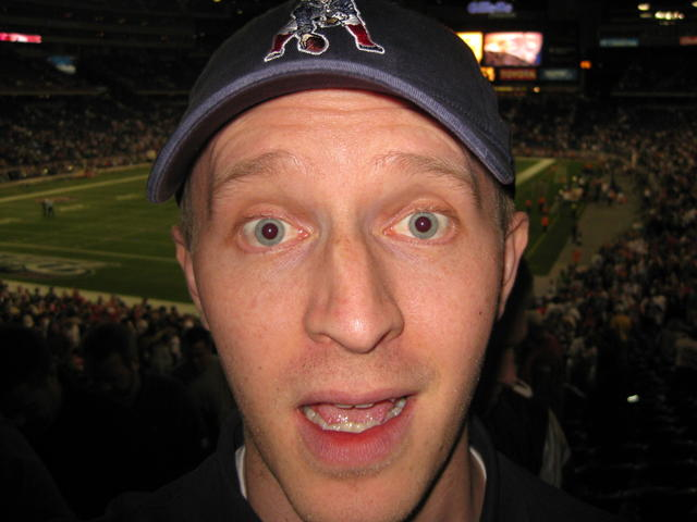 Self-portrait at the Patriots vs. Bills game