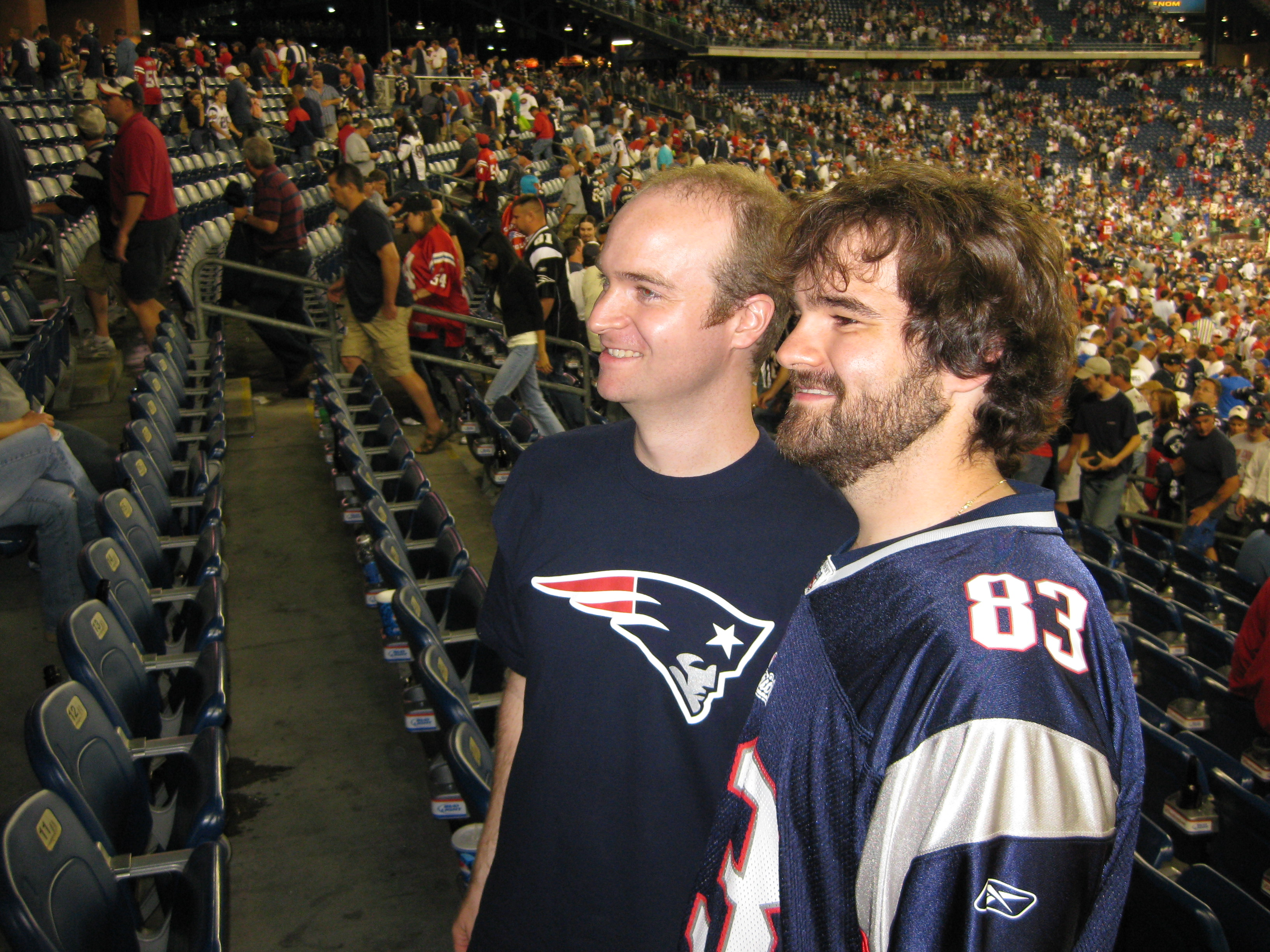Brian and Logan at the Patriots vs. Bills game