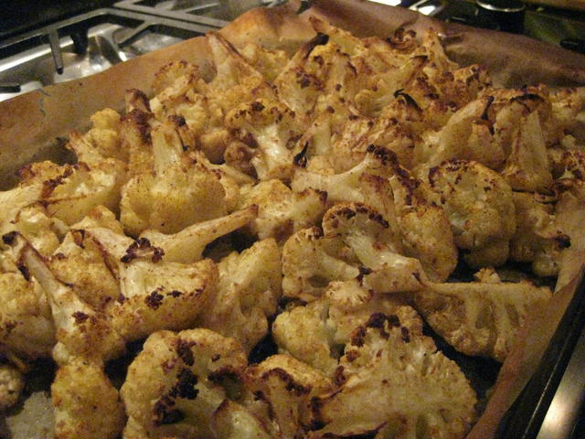 Roasted cauliflower with cumin and coriander