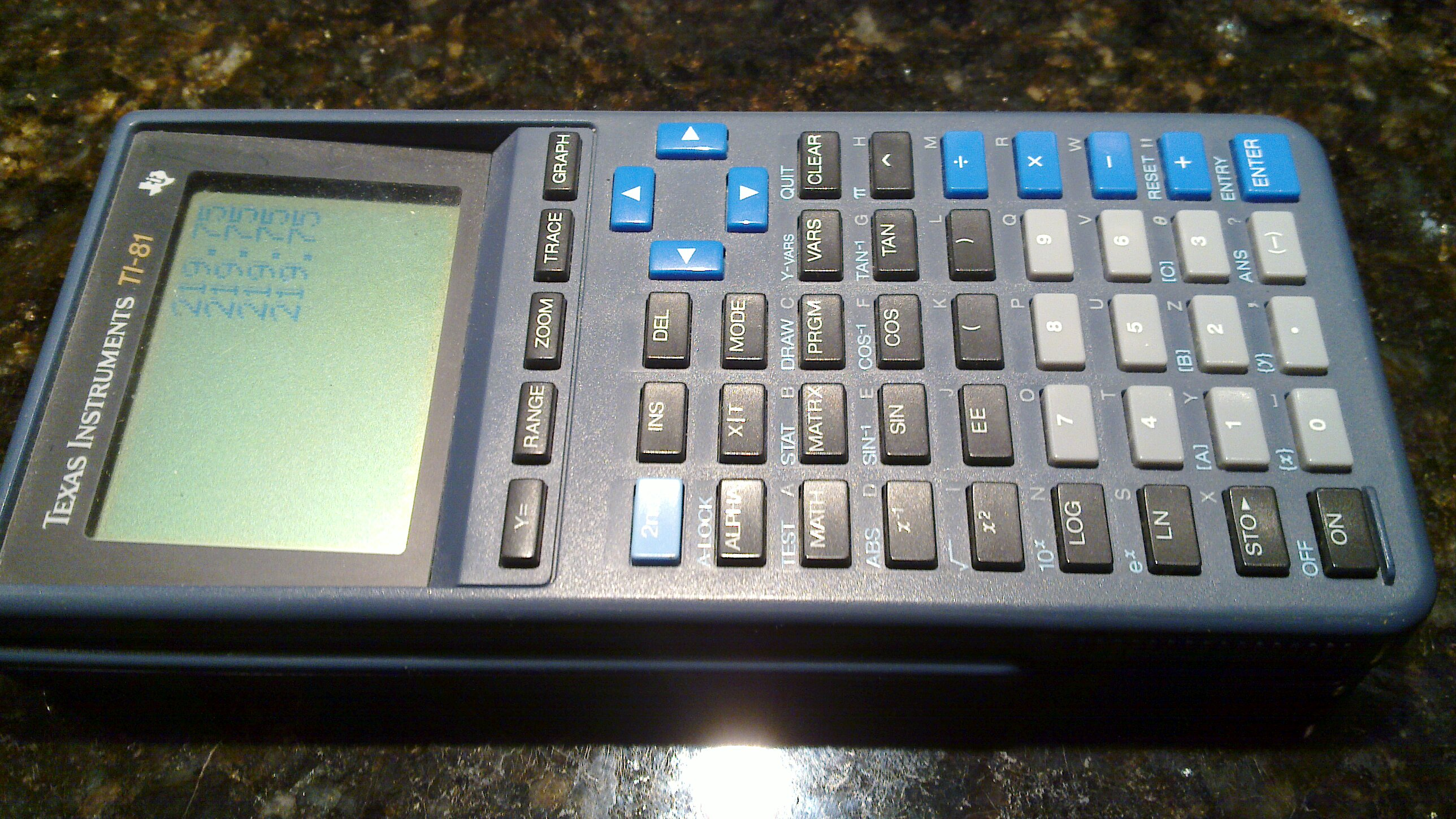 TI-81 Graphing Calculator for sale